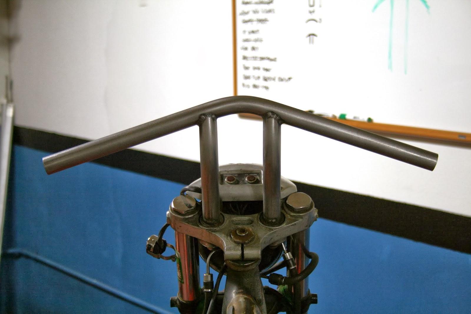 Fitting the 1973 Ironhead Handle Bars